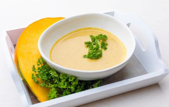 Keto pumpkin and mushroom soup