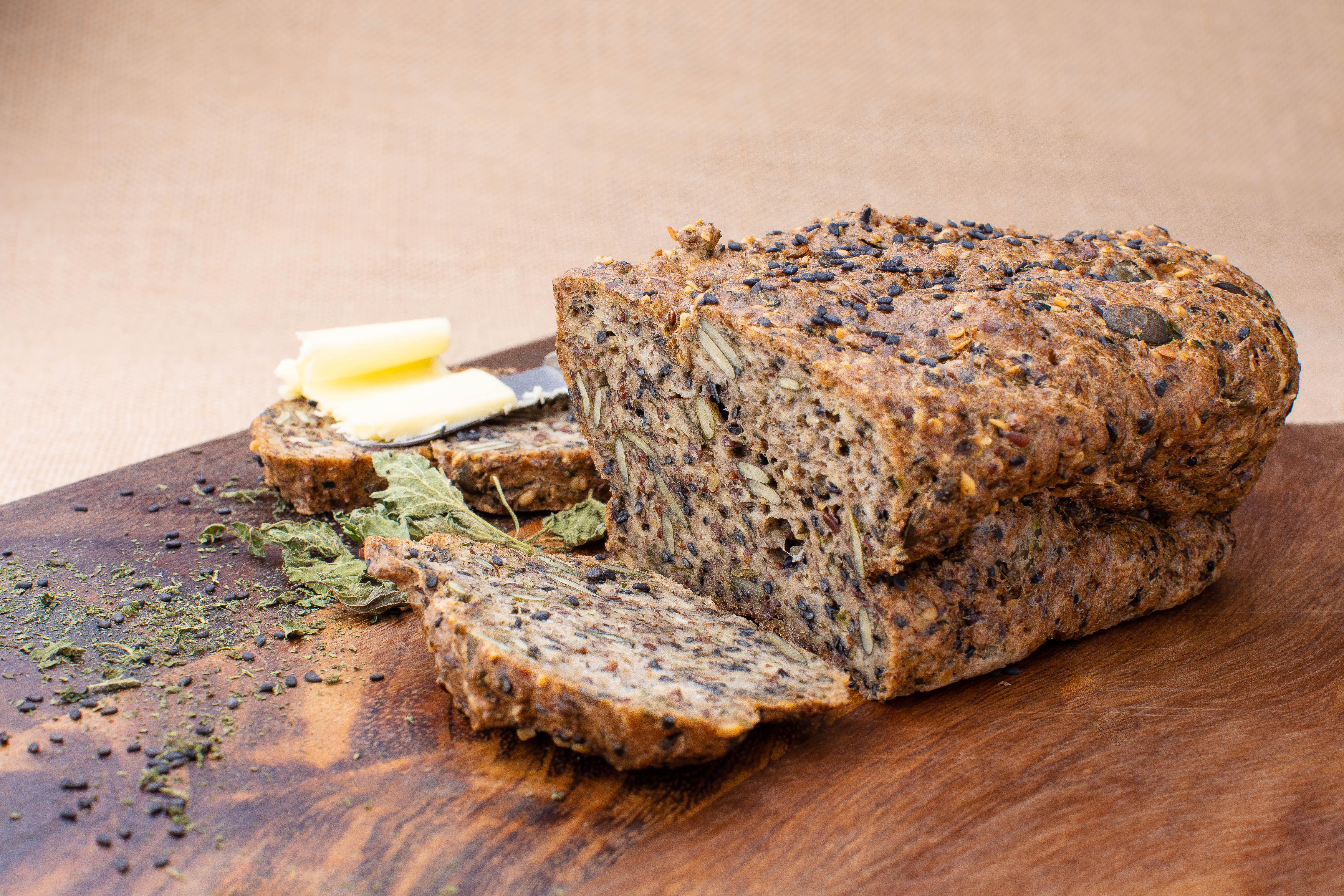 Wild nettle dark keto bread