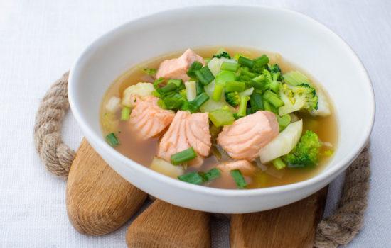 Keto salmon soup
